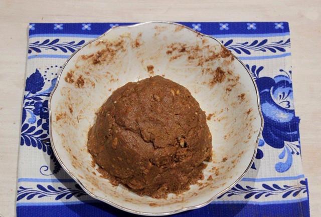 масса из теста для приготовления пирожного из сгущенки