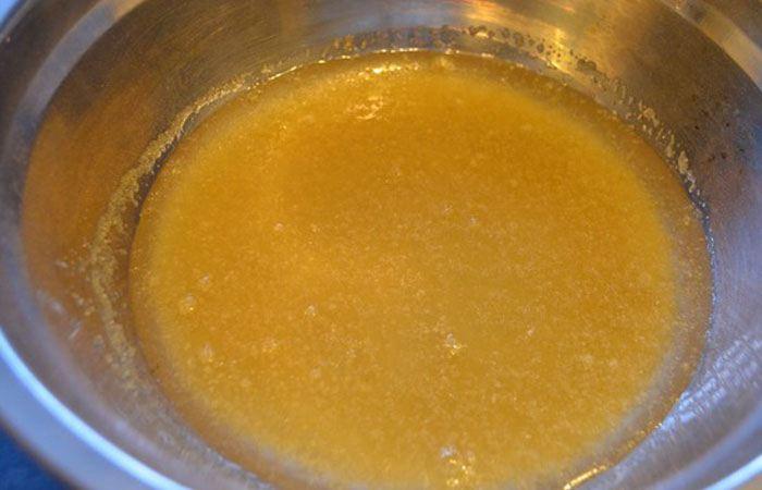 Желатин разводим водой для приготовления фруктового пирожного